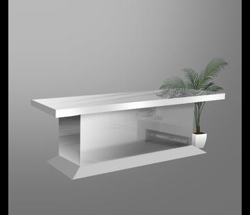Eettafel Oslo Blok Spiegel Spiegelglas - Zilver