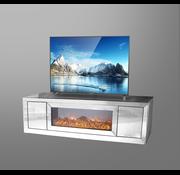 Tv-meubel Oslo Spiegelglas - Zilver