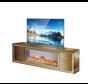 Tv-meubel Oslo Spiegelglas - Brons - incl. elektrische sfeerhaard