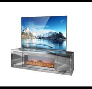 Tv-meubel Oslo Spiegelglas - Antraciet