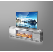 Tv-meubel Oslo Spiegelglas - Wit Spiegel
