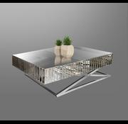 Salontafel Tokyo Spiegelglas - Zilver