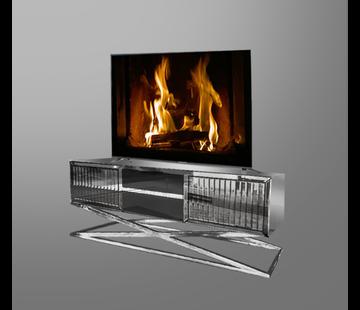 Tv-meubel Tokyo Spiegelglas - Zilver