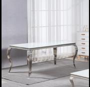 Eettafel Polo Wit Glas