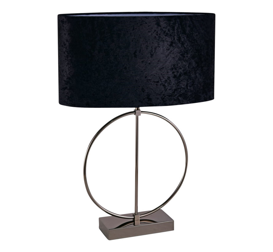 Ringlamp - Antraciet - Tafellamp - 1 ring - Vierkante Voet