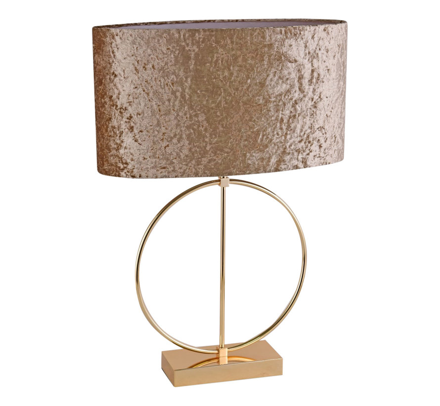 Ringlamp - Goud - Tafellamp - 1 ring - Vierkante Voet