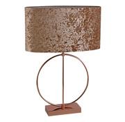 Ringlamp - Brons - Tafellamp - 1 ring - Vierkante Voet