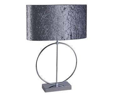 Ringlamp - Zilver - Tafellamp - 1 ring - Vierkante Voet