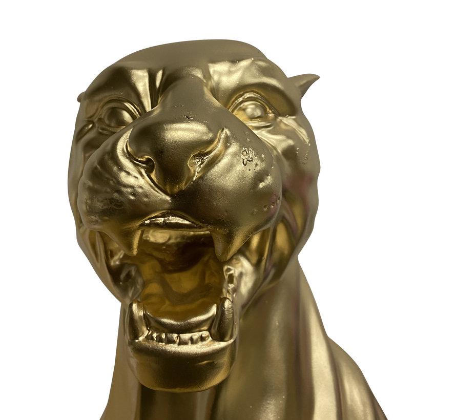 Beeld Panter Goud - H 90 cm