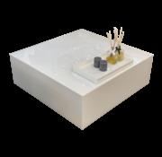 Bloktafel Oslo Wit Glas