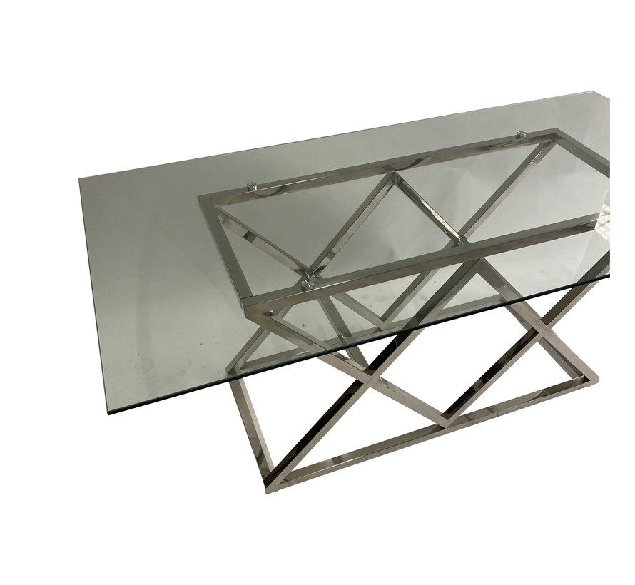 Eettafel Idol Zilver 180 x 90 cm