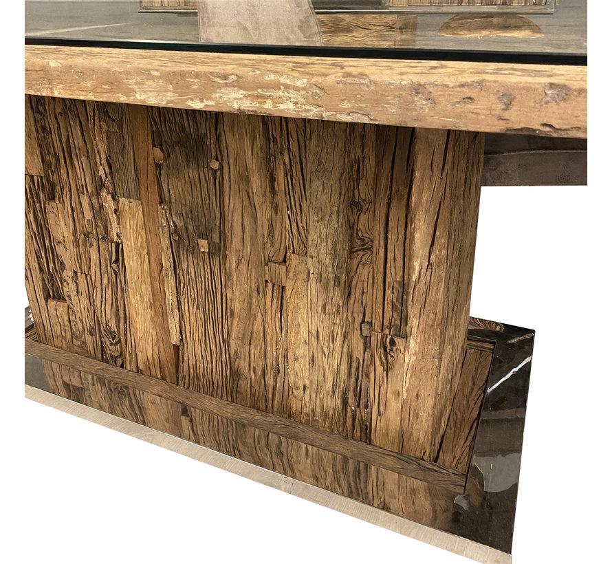Blok Eettafel Sleeper Wood 200 x 100 cm
