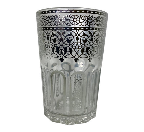 Theeglazen Marrakech Zilver - 12 stuks