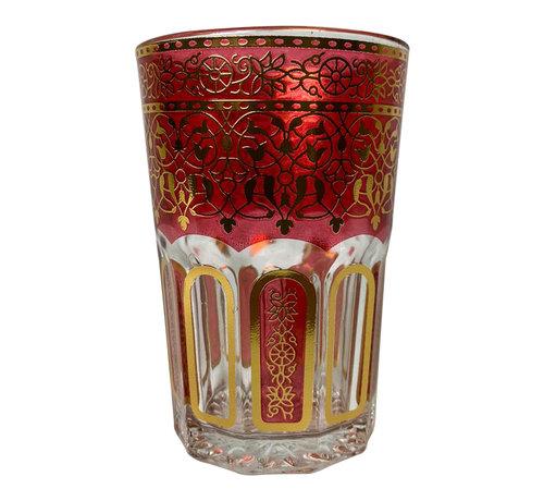 Theeglazen Marrakech Rood - 12 stuks