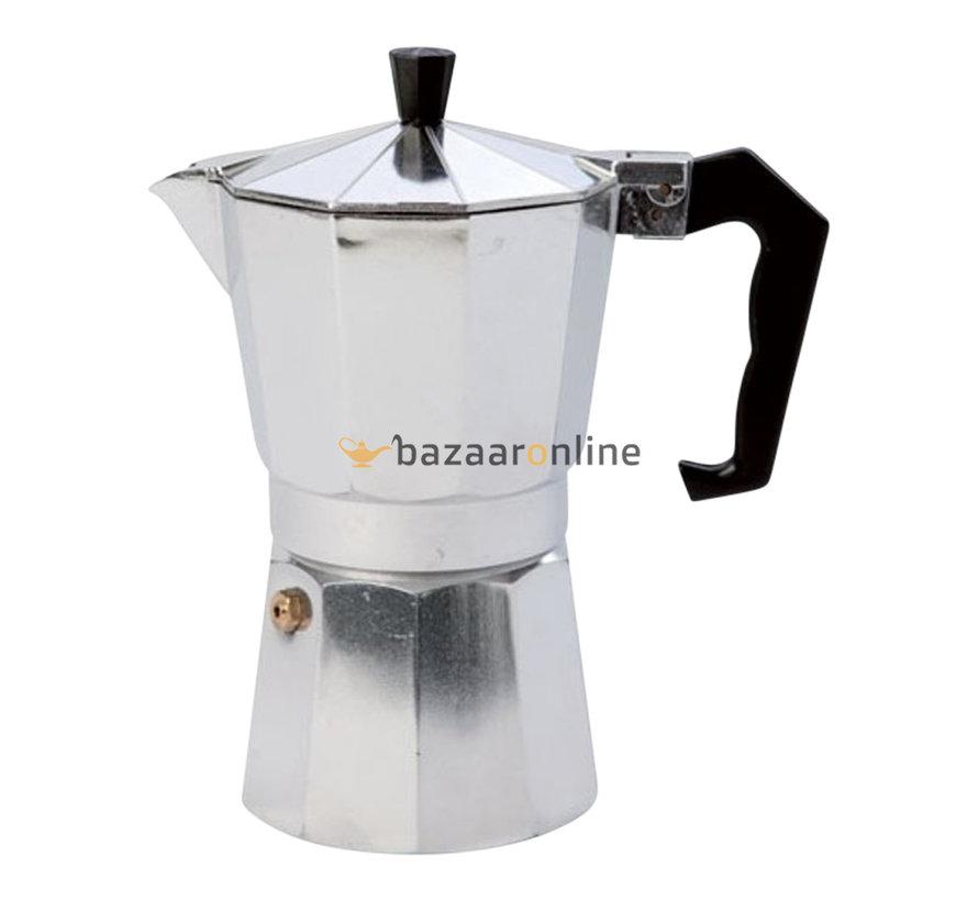 Espresso maker Aluminium  / koffie percolator - 12 kopjes