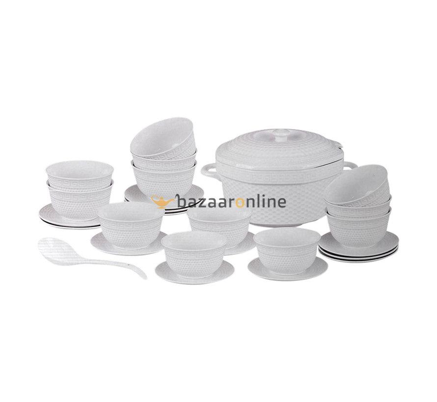 Soep set - 27-delig - Porselein - Versa print - 12 persoons