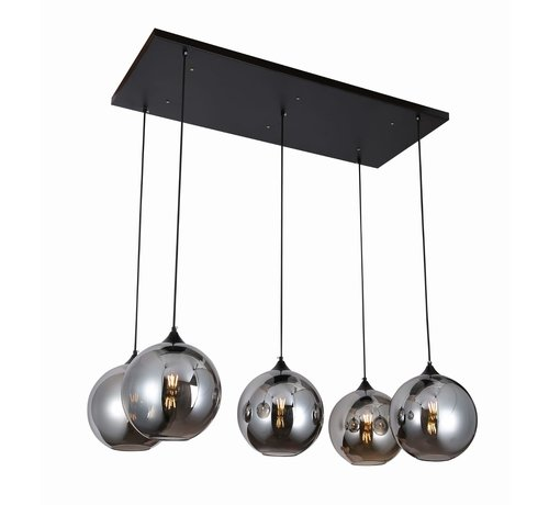 Hanglamp Illusion Smoking glass  5 lichts