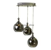 Hanglamp Tro Smoking glass  3 lichts