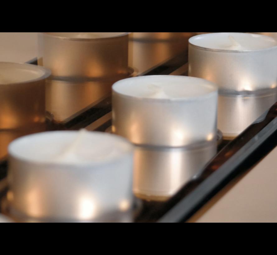 Sfeerhaard Brons - 3 waxinelichtjes - Eric Kuster Stijl