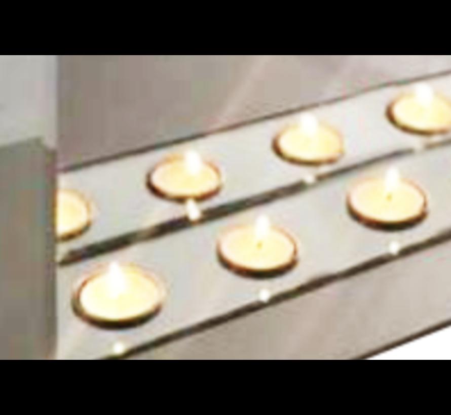 Sfeerhaard Antraciet - 12 waxinelichtjes - Eric Kuster Stijl