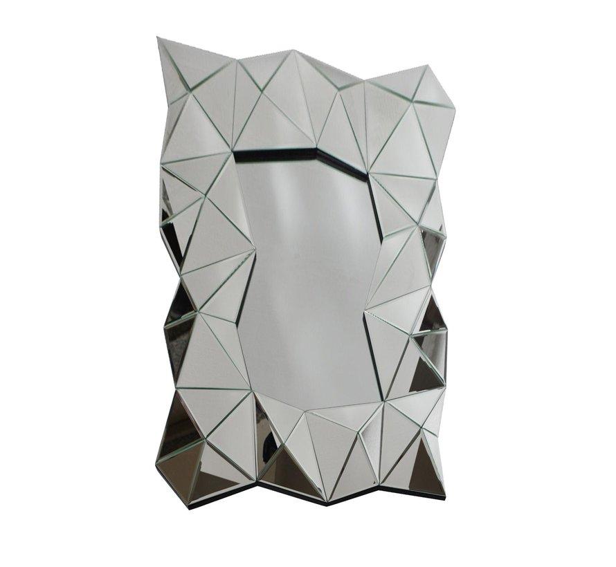 Carmen Zilver Spiegel - Rechthoekig - 80 x 120 cm - Spiegelglas