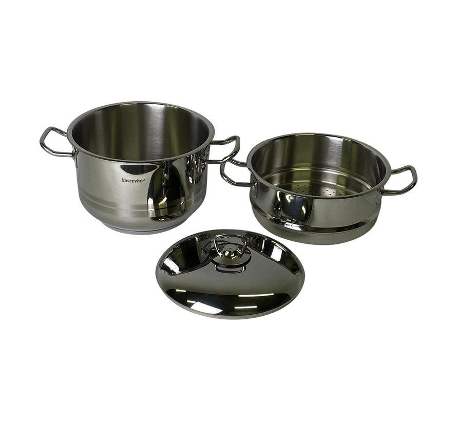 Couscous pan / stoompan 8 liter - Hascevher