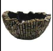 Schelpvaas Bowl 50 cm - Zwart