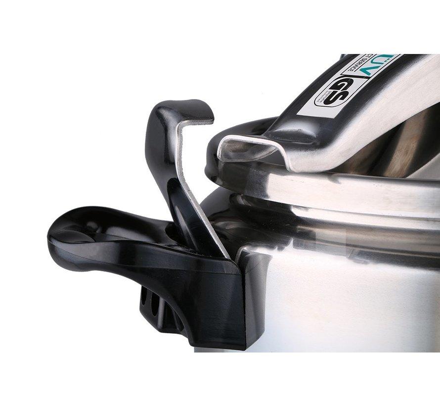Bavary Snelkookpan 6 liter - INOX 18/10 - RVS