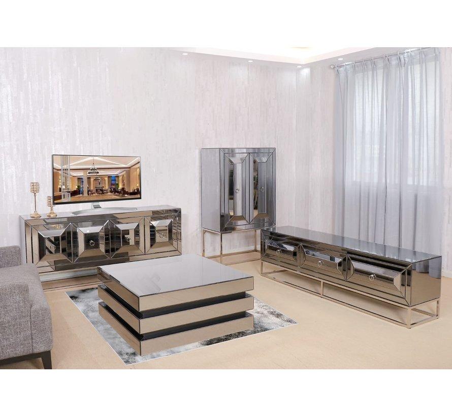 Buffetkast Oxford Antraciet / Zilver 100 x 150 x 47.5 cm
