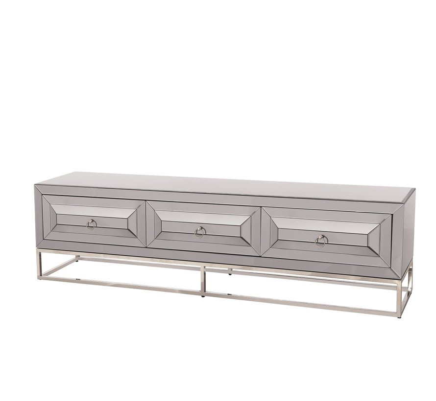 TV-meubel Oxford Antraciet / Zilver 200 x 55 x 45 cm