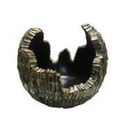 Schelpvaas Bowl 50 cm - Zwart - 3D