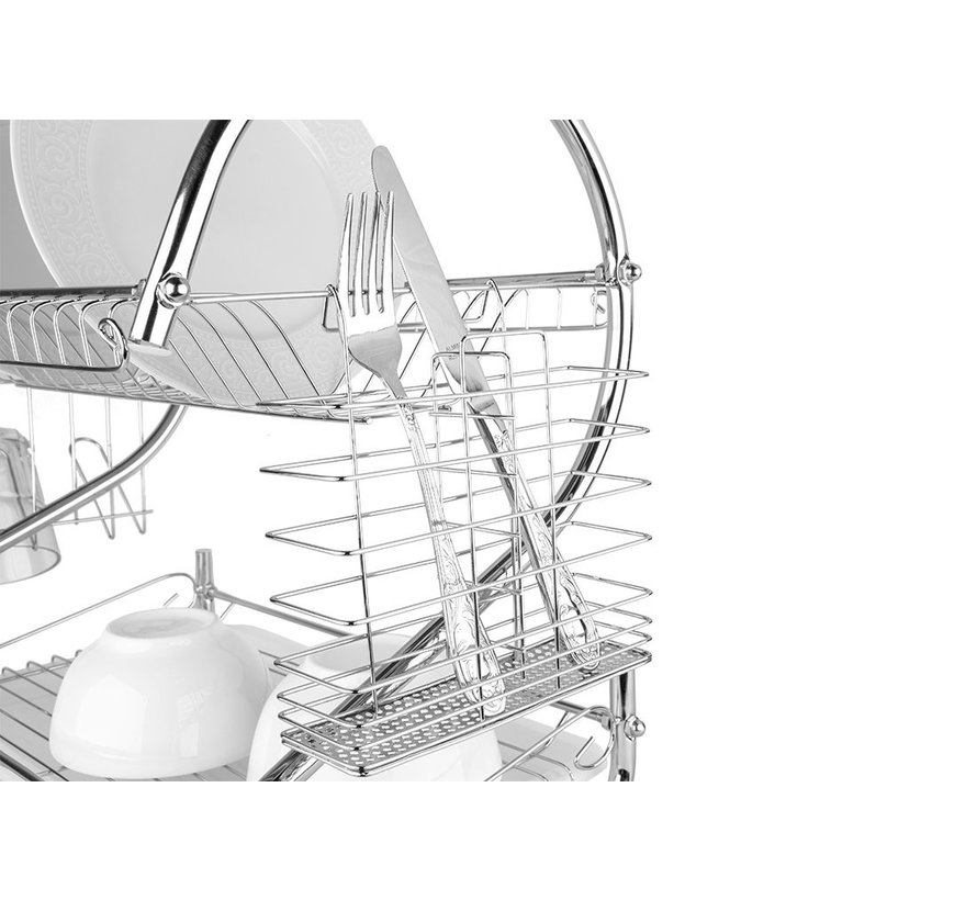 Afdruiprek Dish - Wit L42cm x B24cm x H38cm