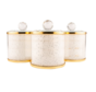 Luxe bewaarpotten Blanco - Goud