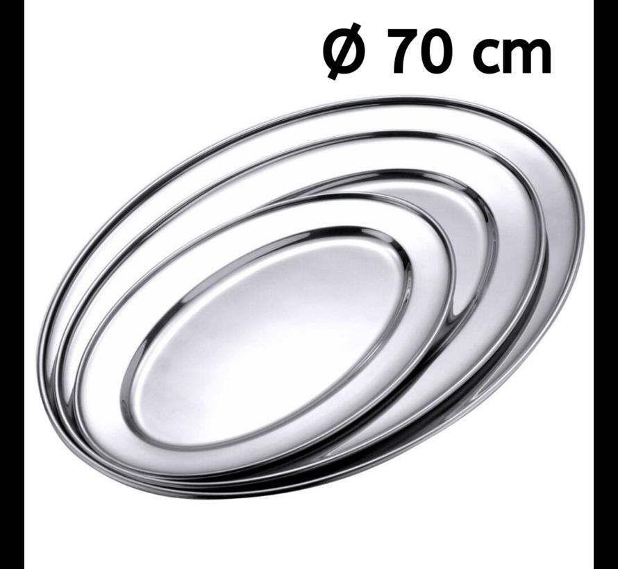 Serveerschaal roestvrij staal ovaal 70 cm