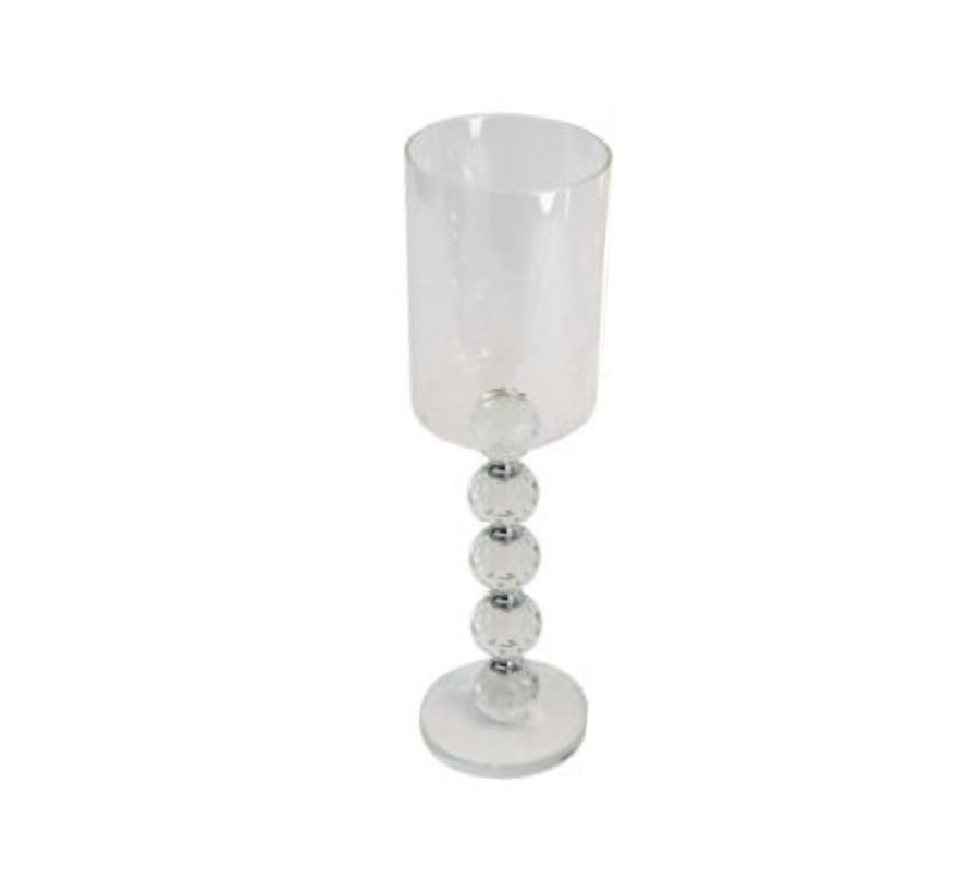 Kandelaar Tess - Medium - 30 cm - Zilver