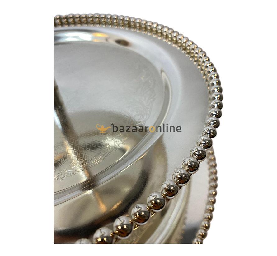 Etagère zilver 3-laags rond