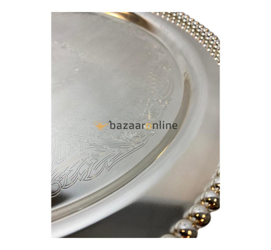 Taartplateau met deksel - Zilver