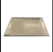 Dienblad Julia - Klein - 25 x 40 cm - Zilver / Spiegelglas