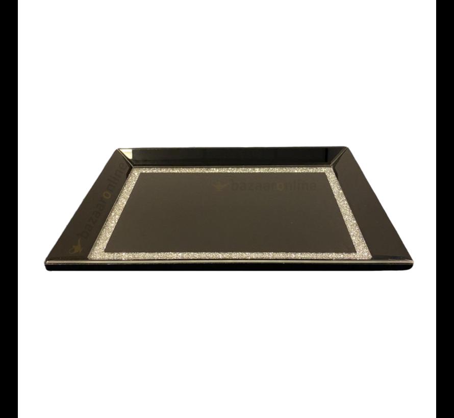 Dienblad Julia - Klein - 25 x 40 cm - Zwart
