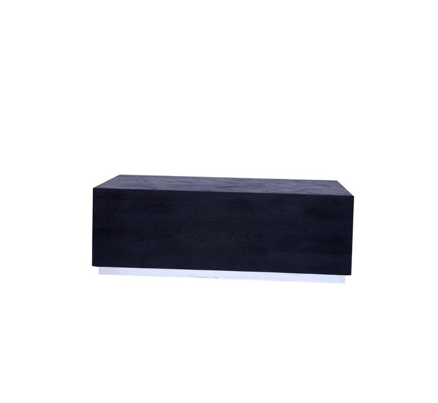Black Bonito - Bloktafel - visgraat look - 130 x 70 cm