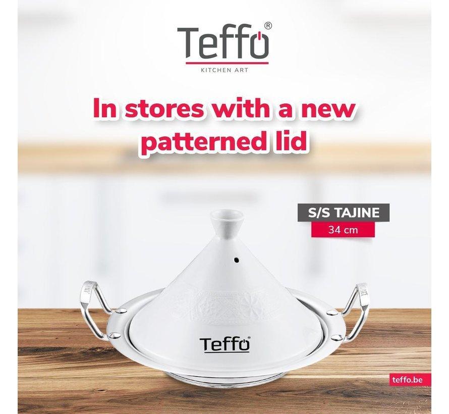 Tajine pan - Teffo - 34 cm - Wit Aardewerk
