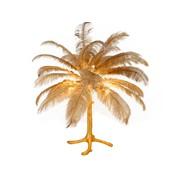 Tafellamp Palmboom met veren - Gold