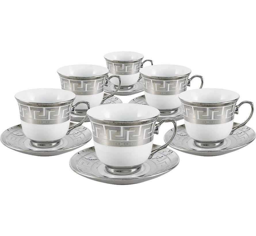 Koffieset - Cacy - Zilver