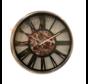 Klok Ferna - Zilver / Zwart - 40 CM - Zwart Marmer