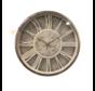 Klok Ferna - Zilver / Wit - 40 CM - Wit Marmer