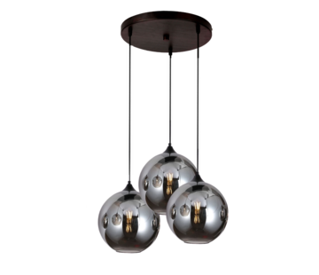 Hanglamp Illusion Smoking glass 3 lichts