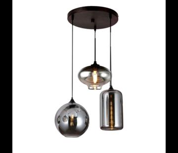 Hanglamp Thoughts Smoking glass 3 lichts