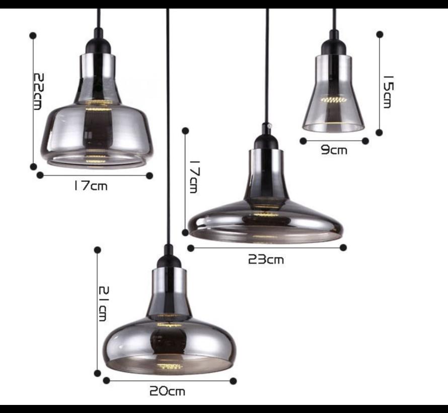 Hanglamp Feelin Smoking glass 4 lichts