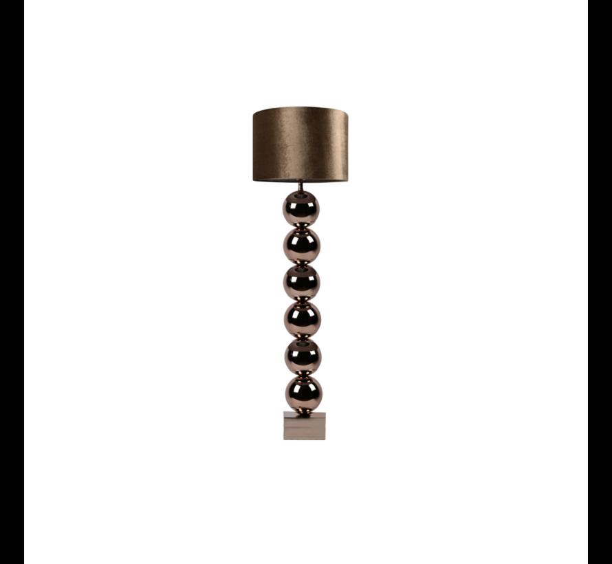 Bollamp - Brons - Vloerlamp - Laag 105 cm (incl. kap)