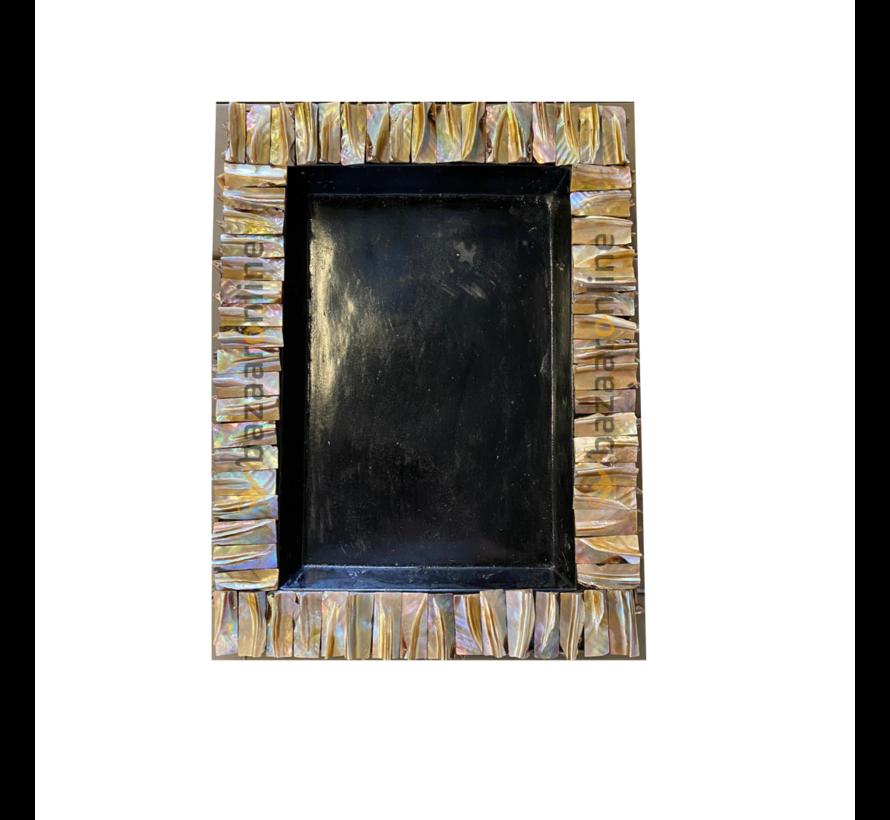 Schelp Dienblad 30x40 cm - Zwart